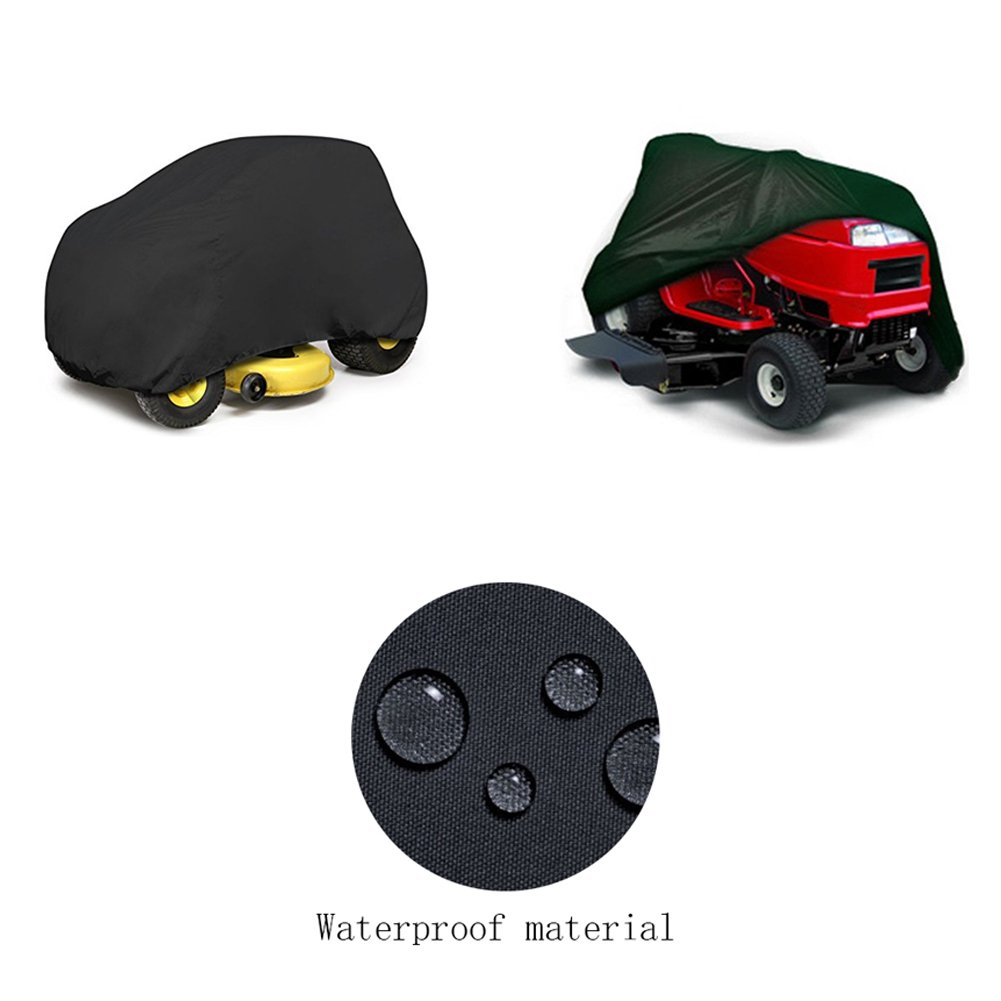 Mower Cover, Premium Heavy Duty Waterproof Lawn Tractor Cover with Extra Ultraviolet-proof Function and 54'' Universal Fit Size