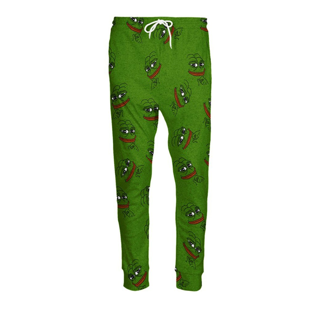 3D Pepe Joggers Unisex Cartoon Sweatpants Autumn Fall Winter Style Trousers Urpants