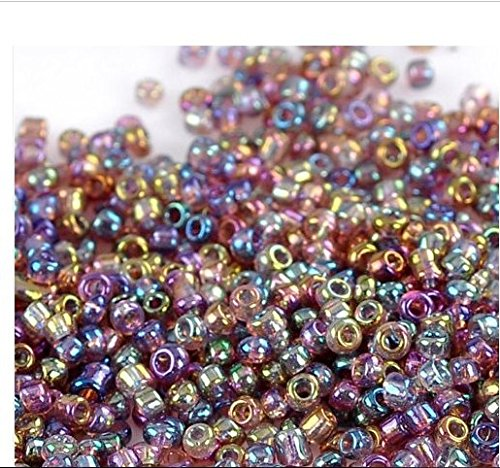 1500pcs 2mm Crystal Ab Color Czech Glass Seed Spacer Beads Jewelry Making DIY AnOs