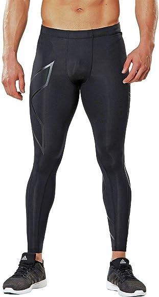 Black 2XU Run Dash Mens Long Compression Tights