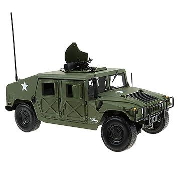 Sharplace 1/18 Modelo Juguete Vehículo Coche Militar de Campo de Batalla