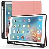 ULTRAMARINE iPad Mini 5 Case 2019 with Pencil Holder,Premium Trifold Lightweight Ultra Slim Soft TPU Back Cover with Auto Sleep/Wake Smart Case for Apple iPad Mini 5th Generation (Pink)