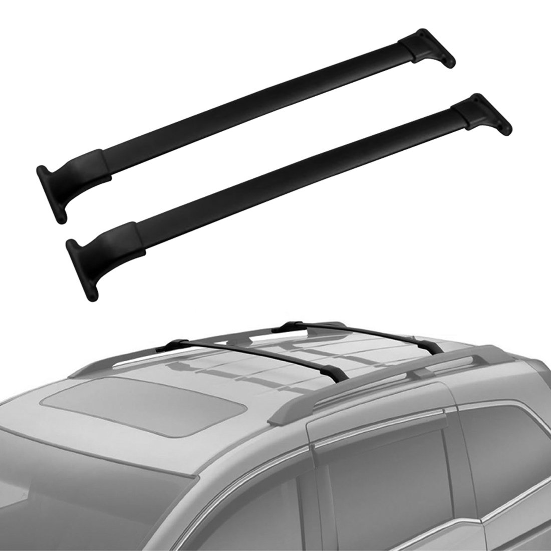 AUXMART Roof Rack Corss Bars OE Style Crossbars Fit for 2011-2017 Honda Odyssey, Aluminum Luggage Cargo Carrier Rooftop Rail Racks System Replacement for Canoe Bike Kayak
