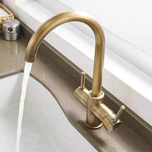 BOAOTX - Grifo de cocina de 3 vías para filtro de agua, grifo de ...