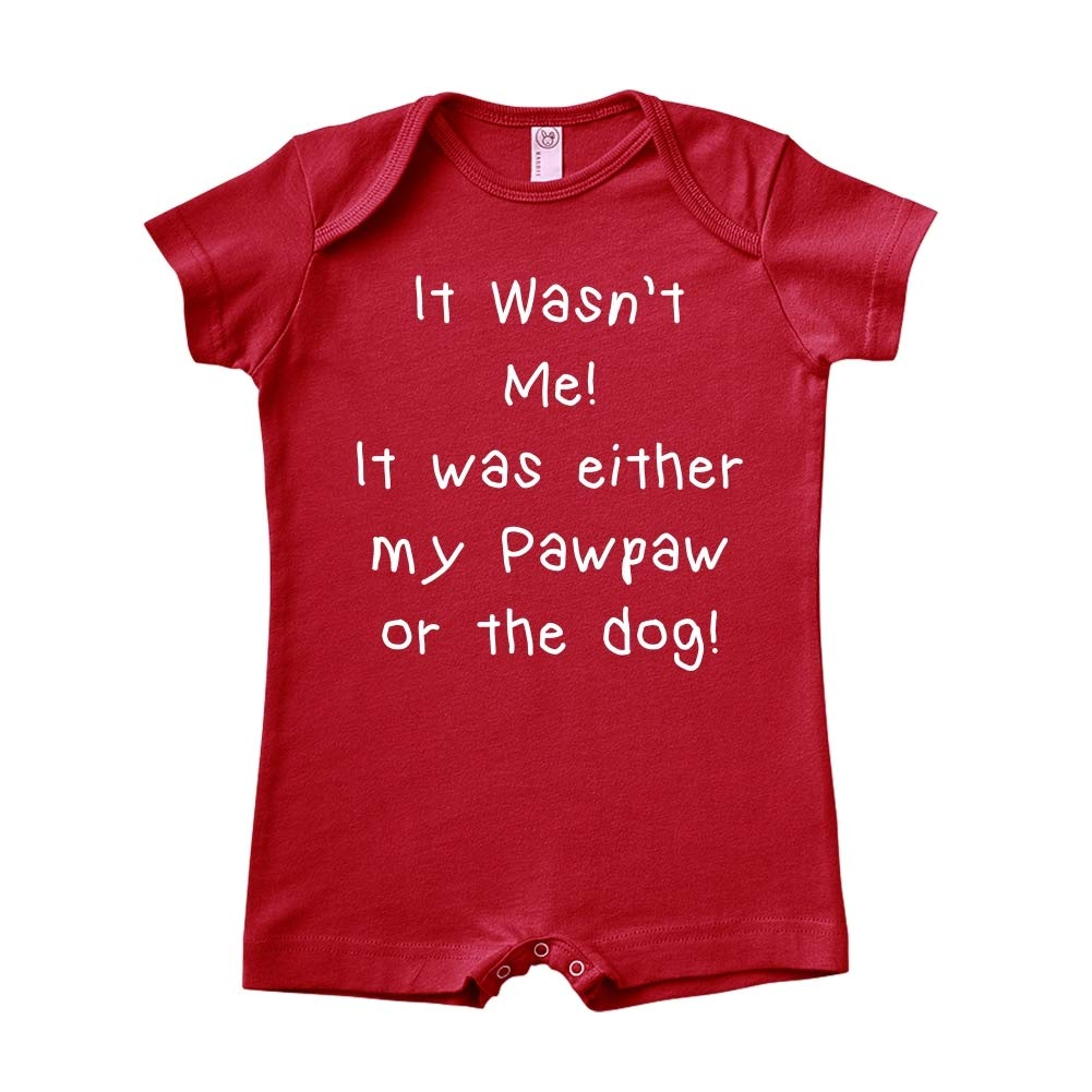 Mashed Clothing It Wasnt Me It was Either My Pawpaw Or The Dog Baby Romper