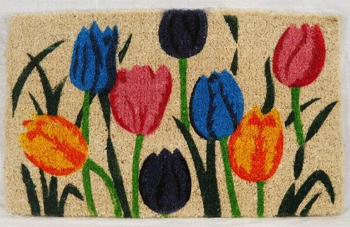 Kempf Multi Tulip Natural Coco Doormat, 18 by 30 by (Coir Outdoor Mat)