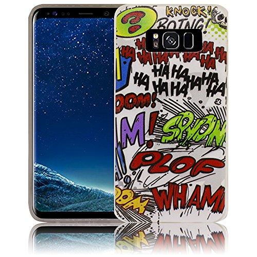 Samsung Galaxy S8 casete Funda protectora de silicona Funda protectora suave Funda protectora contra el parachoques Funda protectora para teléfono móvil Funda protectora para teléfono móvil Funda para Comic Haha