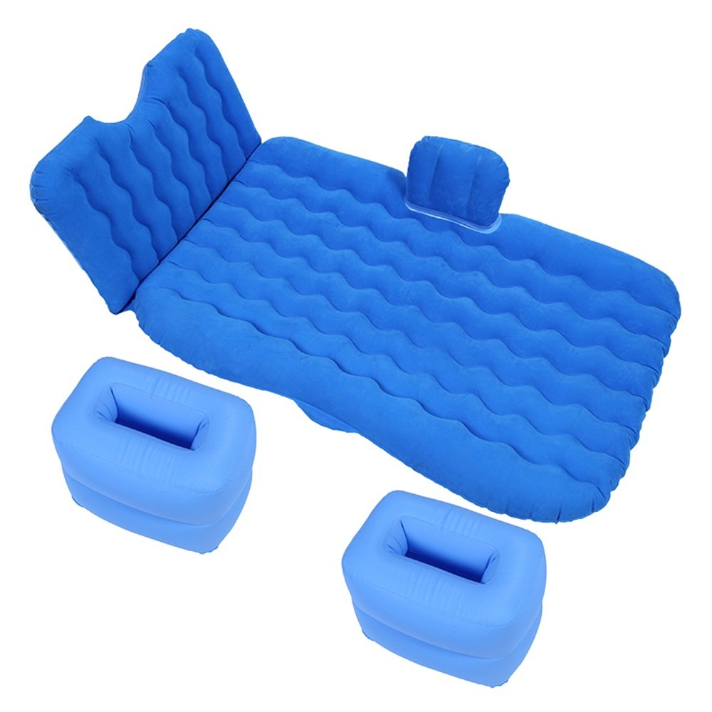 YQQ Tragbar Luftmatratze Im Freien Kampieren Selbstfahrendes Reisebett Auto Aufblasbares Bett (Farbe : Blau)