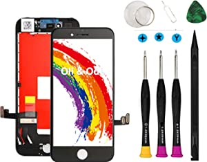 Compatible with iPhone 7 Screen Replacement Black Oli & Ode LCD Digitizer Touch Screen Assembly Set with 3D Touch Model No. A1660, A1778, A1779 (Black)
