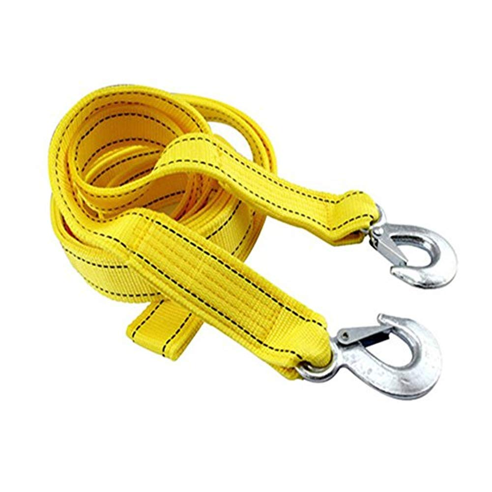 Durable Heavy Duty Tow Strap Nylon Recovery Double Layer Thickening Tow Rope with Hook for Off-Road Vehicle Car