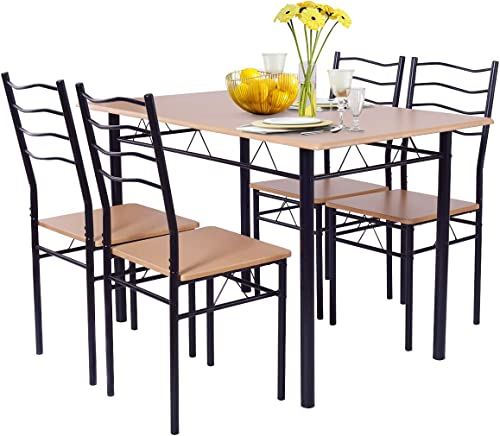 Giantex Modern 5 Piece Dining Table Set