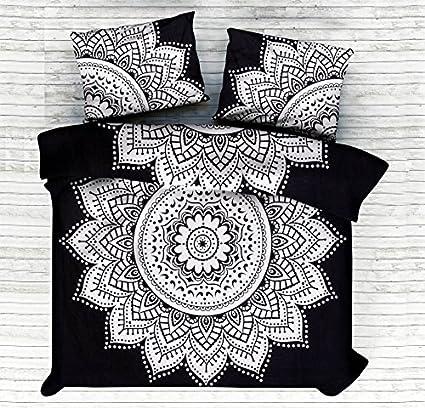 Juego de ropa de cama Kiara, 3 unidades, suave, para cama de matrimonio, diseño de mandala, estilo romántico, tamaño grande, doble o individual: Amazon.es: ...