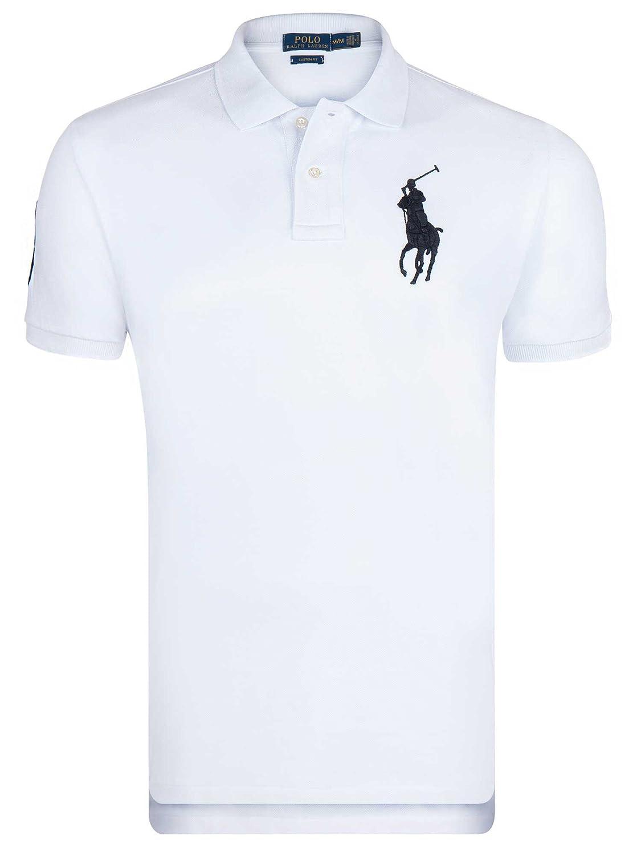 Polo Ralph lauren Manches Courtes Blanc Big Pony Noir - Homme ...