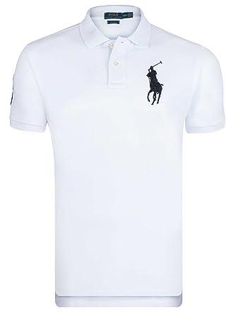 Polo Ralph lauren Manches Courtes Blanc Big Pony Noir Homme 3XL
