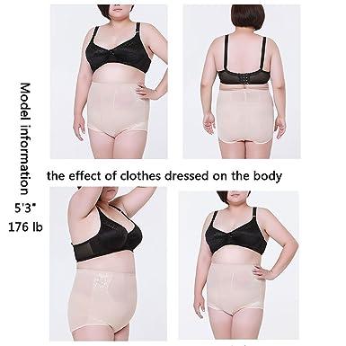 Amazon.com: Shapewear breve cintura pantalones Plus tamaño ...