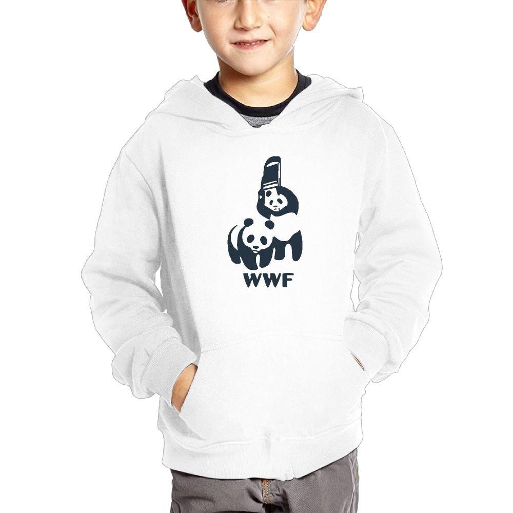 BBysweatshirt Boy's Pullover With Pocket 2-6 Year Unisex - WWF Panda Bear Wrestling by BBysweatshirt