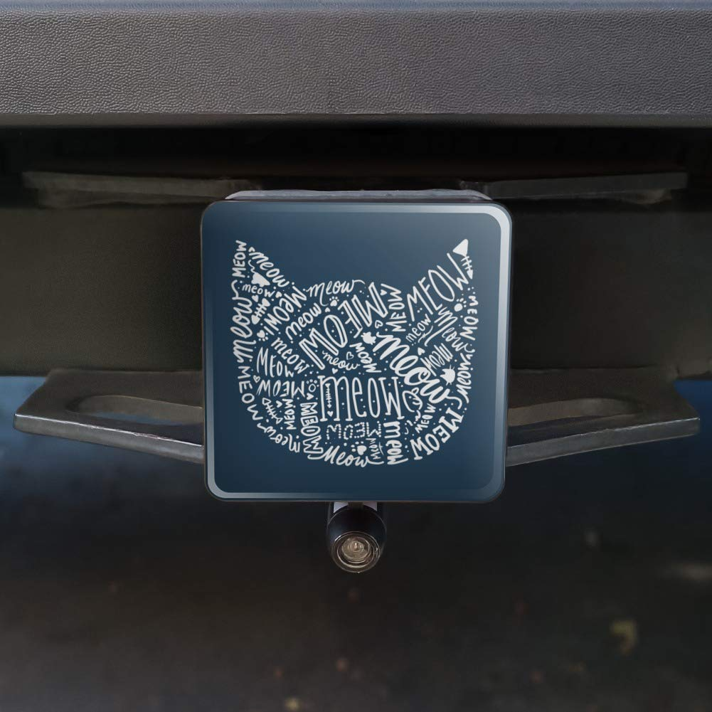Graphics and More Meow Cat Kitten Kitty Silhouette Tow Trailer Hitch Cover Plug Insert 2