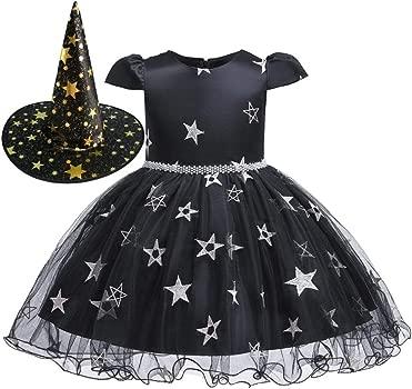 FRAUIT Disfraz Halloween Niño Niñas Tul Vestidos y Sombrero ...
