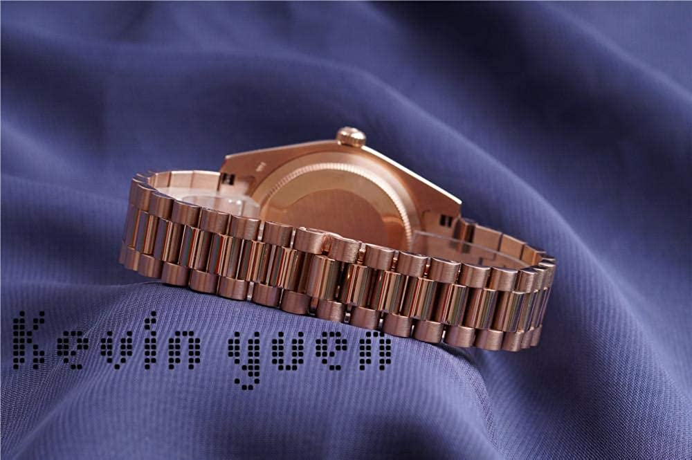 Day Date Orologio in oro rosa giallo Uomo Donna Orologio di Day-date President Orologio meccanico automatico Meccanico Roma Quadrante nero Rose Gold Blue
