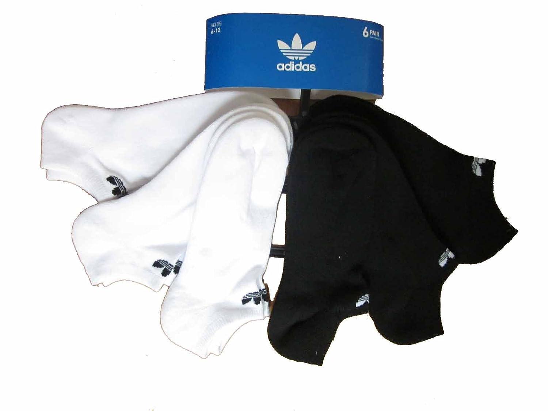 Mens Adidas Originals No Show Socks 6 Pair Trefoil Logo