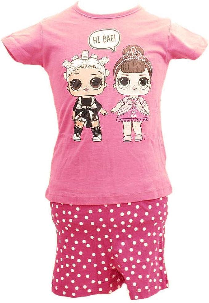LOL - Pijama corto para niña rosa 8 años: Amazon.es: Ropa y ...