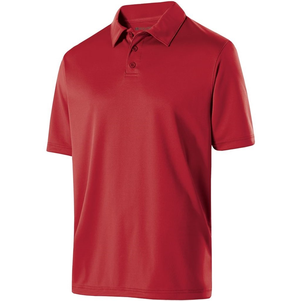 Holloway Mens Dry Excel Shift Polo (XXX-Large, Scralet) by Holloway