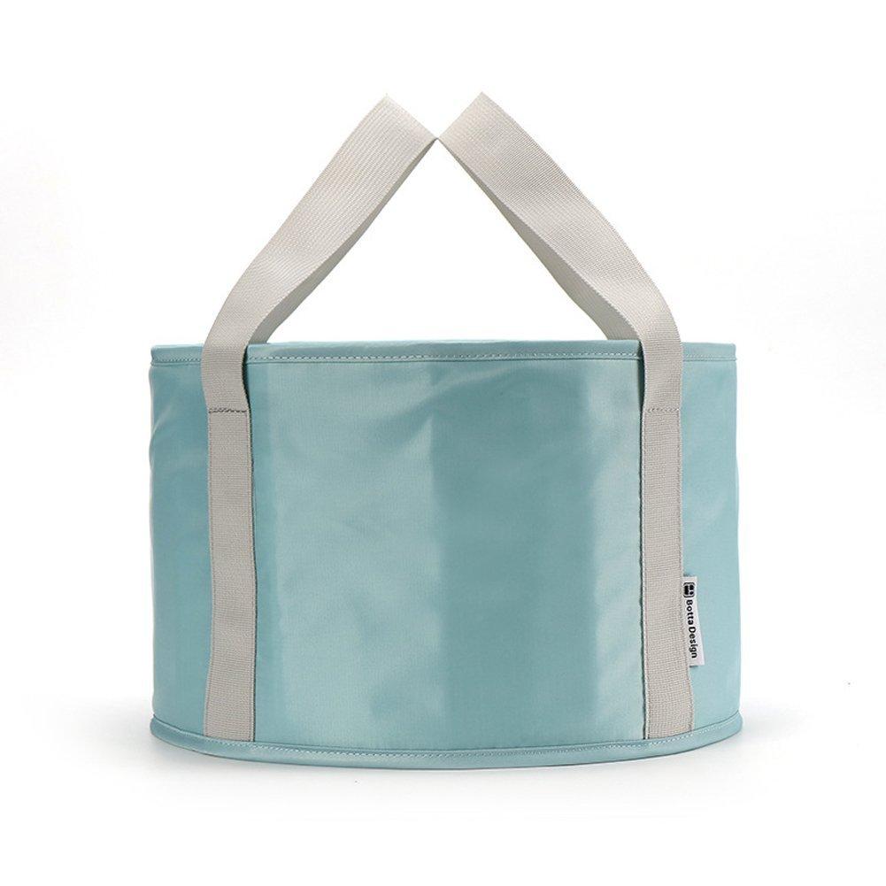 Folding Wash Basin Portable Travel Outdoor Foot Soak Bucket Heat Preservation Waterproof (Blue) by In kds