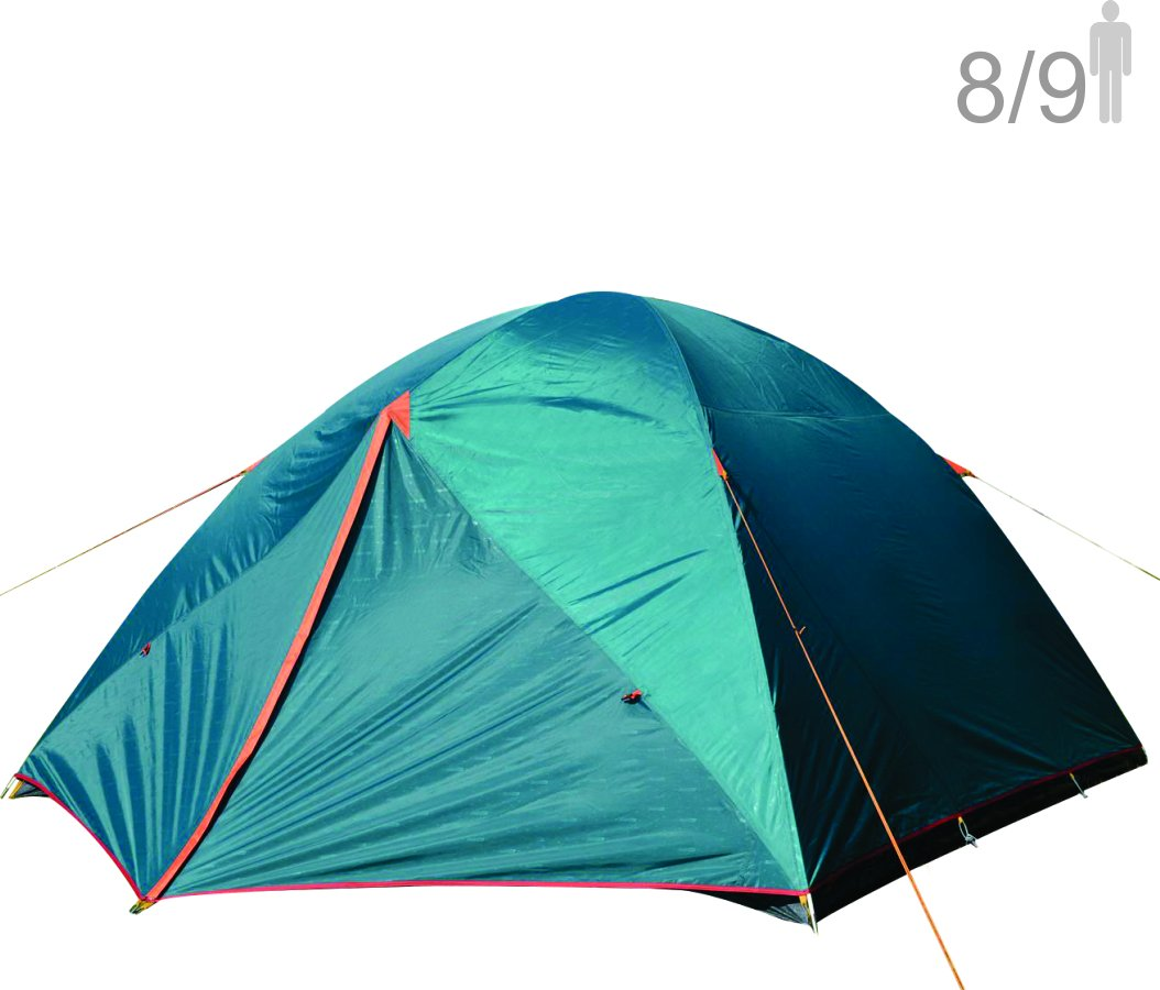 NTK Colorado GT 8 to 9 Person 10 by 12 Foot Outdoor Dome Family Camping Tent 100% Waterproof 2500mm, Easy Assembly, Durable Fabric Full Coverage Rainfly - Micro Mosquito Mesh for Maximum Comfort.