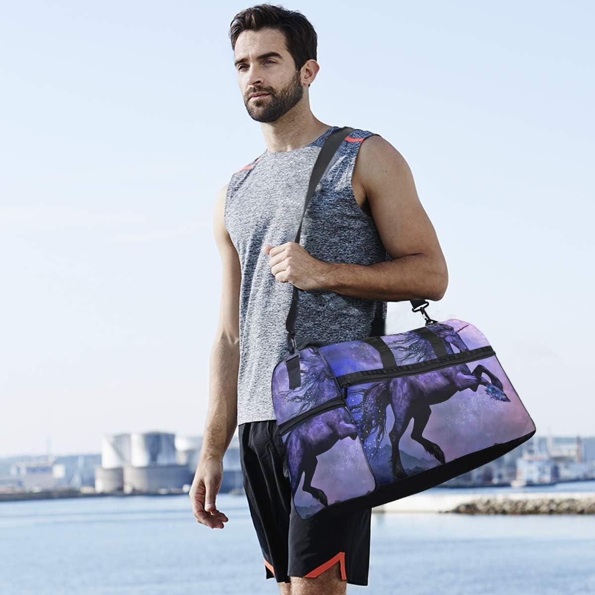 Travel Duffels Unicorn Magic With Star Duffle Bag Luggage Sports Gym for Women /& Men