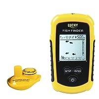 Kabelloser Fisch-Finder, Tracffy 100M / 328ft Portable Angeln Sonar Sensor 40 m Tiefe Verkabelt Finder Echolot