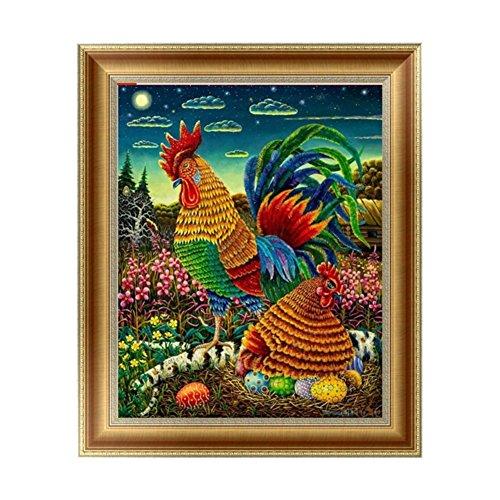 - Smartcoco 5D DIY Diamond Hen Hatching Egg Wall Sticker 3D Round Diamond Mosaic Cross Stitch Embroidery 30x35CM