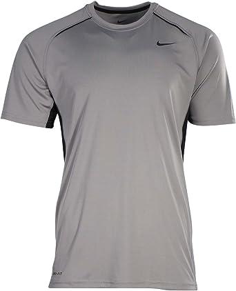 Nike Mens Legacy Performance Dri-Fit Training Shirt Grey/Black (Small)