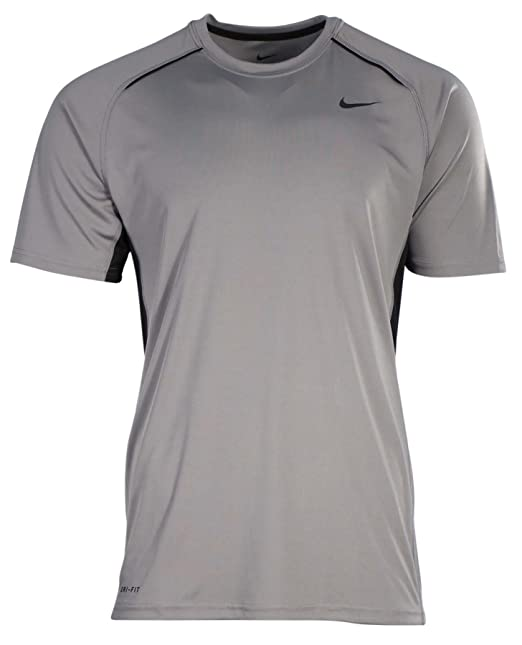 77b5ed6880 NIKE Mens Legacy Performance Dri-Fit Training Shirt Grey/Black