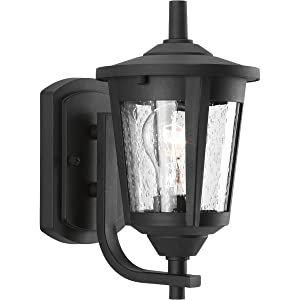 Progress Lighting P6073-31 Contemporary/Soft 1-100W Med Wall Lantern, Black