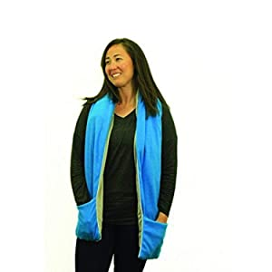 Yogibo Aroma - Aromatherapy Scarf w/ Pockets - Microwave and Freezer Safe Hot & Cold Pack - Eases Neck, Shoulder & Back Pain - Herbal Hot & Cold Therapy for Aches & Pains - Peppermint & Lavender