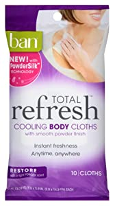 Ban Total Refresh Cooling Body Cloths 10 Count (Restore) (3 Pack)