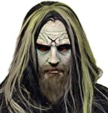 UHC Men's Scary Rob Zombie Horror Theme Party Latex Halloween Costume Mask