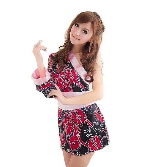 91143d861 Amazon.com: Black Temptation Womens FQQ056 One-Shoulder Sakura ...