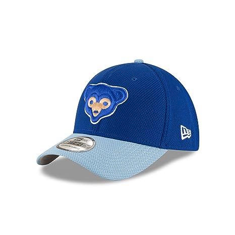 Chicago Cubs Diamond Era Cooperstown 39THIRTY Blue Flex Fit Hat   Cap  Small Medium fd69335f78f7