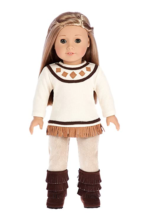 99fcb854f2d DreamWorld Collections - Pocahontas - 3 Piece Outfit - Clothes Fits 18 Inch  American Girl Doll