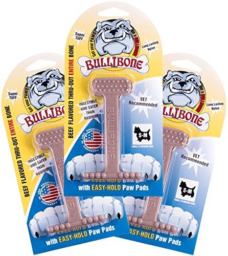Bullibone Nylon Dog Chew Toy Small Nylon Bone - Improves Den