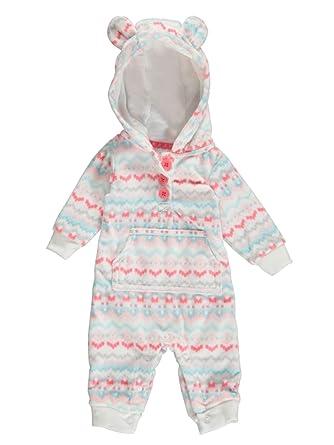 79fa6d0cf Amazon.com  Carter s Infant Girl White Aztec Print Hooded Fleece ...