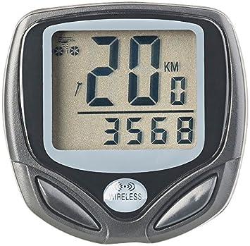 PEARL sports Velo Ordenador: Digital 15 in1 de Ordenador de Bicicleta, con Radio inalámbrica