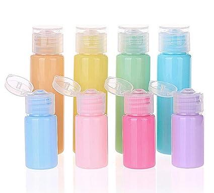 Amazon.com: 12 botellas de plástico recargables vacías de 10 ...