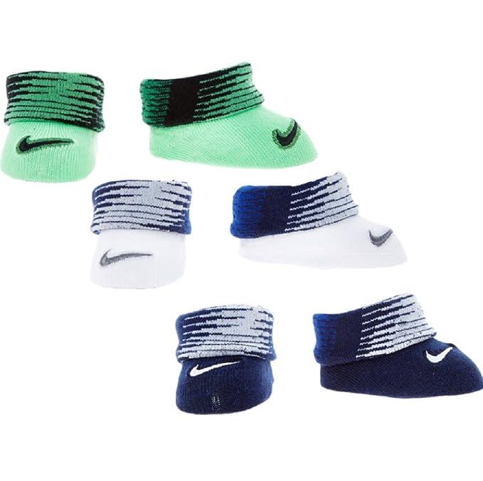 Nike - Calcetines - para bebé niña Verde blanco 0-6 Meses: Amazon.es: Ropa y accesorios