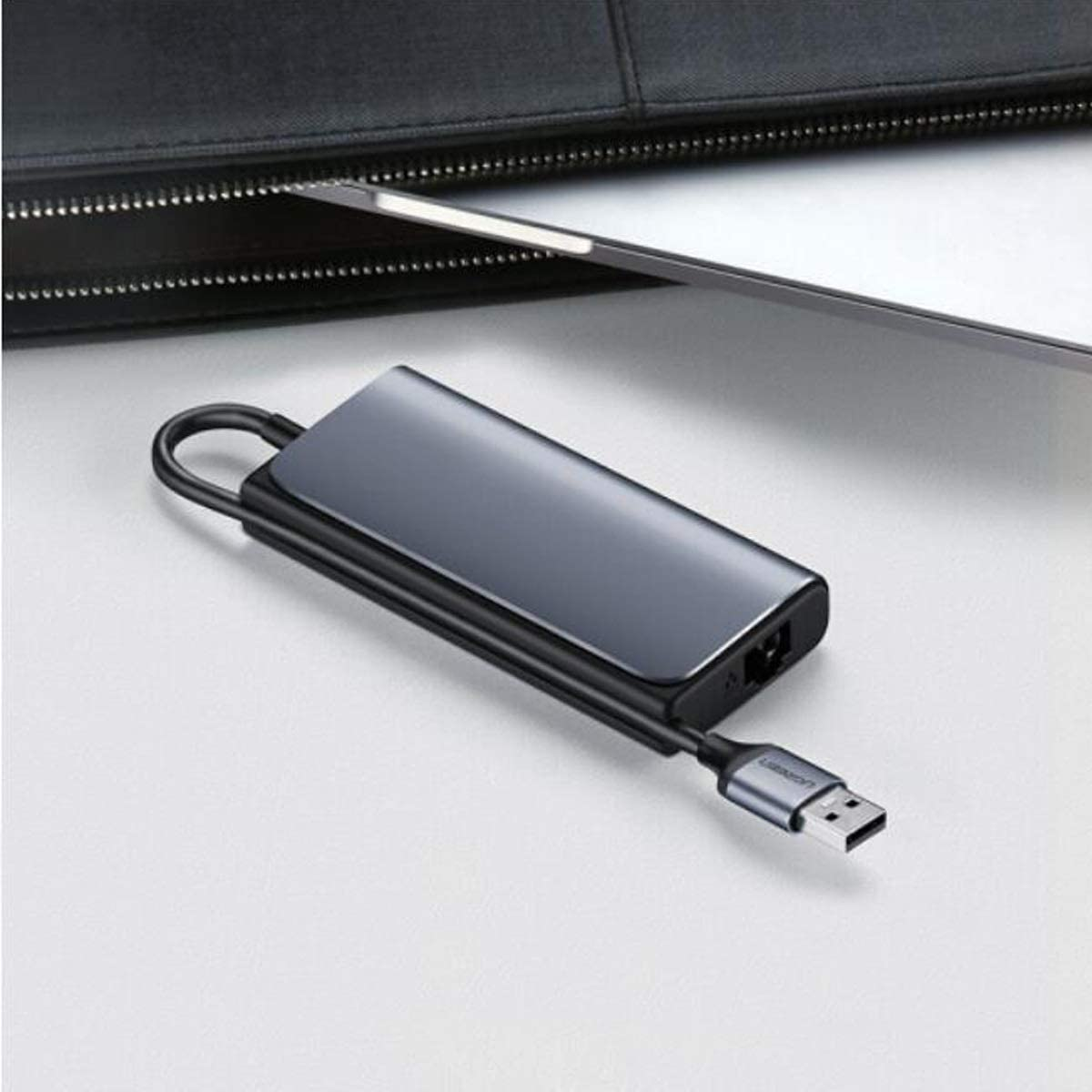 Color : Gray Wuhuizhenjingxiaobu Hub Gigabit Wired Network Port Network Card Converter Beautiful Appearance USB3.0HUB Splitter