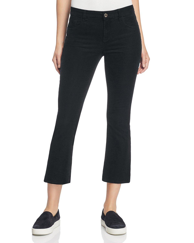 J Brand Women's Selena Crop Bootcut Corduroy Pants (31, Black)