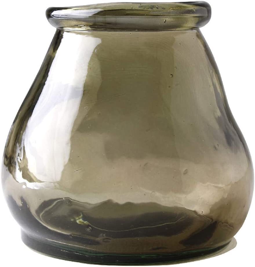SPICE OF LIFE Valencia Recycled Glass Vase - Brown, 3.9