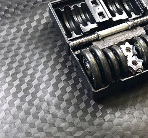 AMERIQUE 691322304107 Premium 3Rd Generation Unique and Durable Embossed Diamond Plate Metallic Vinyl Flooring, 28'L x 3.6'W/100sq. ft./2mm, Grade Diamond, 100 Square Feet by AMERIQUE