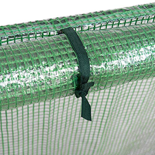 """Sundale Outdoor Portable Gardening Steeple Mini Green House with PE Cover and Zipper Doors, Waterproof Hot Green House, UV Protection, Insect Prevention, 106.3""""(L) x 35.4""""(W) x 35.4""""(H) by Sundale Outdoor (Image #2)"""